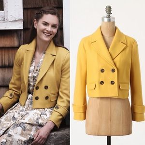 Anthropologie Cartonnier Luisa Cropped Coat Small